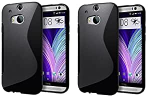 S LINE Anti Skid Gel TPU Slim Soft Case Cover forHTC One M8 (Value for Money Set of 2)