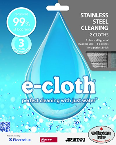 E-cloth Stainless Steel Cleaning Pack Silver, used for sale  Delivered anywhere in UK