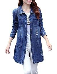 Suchergebnis auf f r jeansmantel damen bekleidung - Jeanshemd lang damen ...