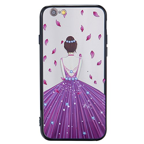 Nancen Hülle Apple iPhone 6 Plus / 6S Plus (5,5 Zoll) . Girl cover TPU Case Handyhülle Backcover Girl cover 6
