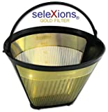 SeleXions Goldfilter 1 x 4, 6-12 Tassen, Dauerfilter mit Titanhartschicht