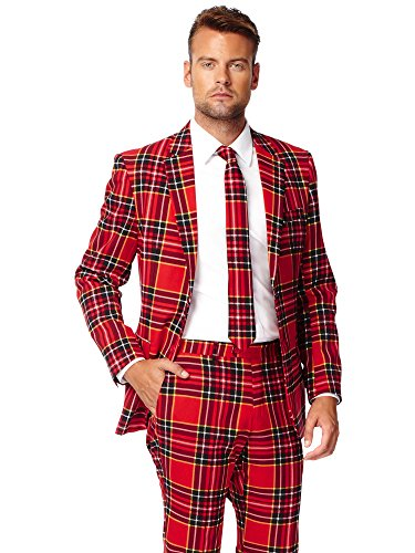 Opposuits Weihnachtsanzüge für Herren - besteht aus Sakko, Hose und Krawatte