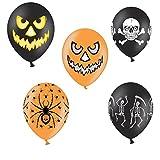 10 x Luftballons Halloween Motiven Spinne, Kürbis, Totenkopf, Skelett Halloween - Heliumgeeignet - Halloween Mix - Luftballons Deko Party Halloween - Heliumgeeignet - Top Qualität - twist4®