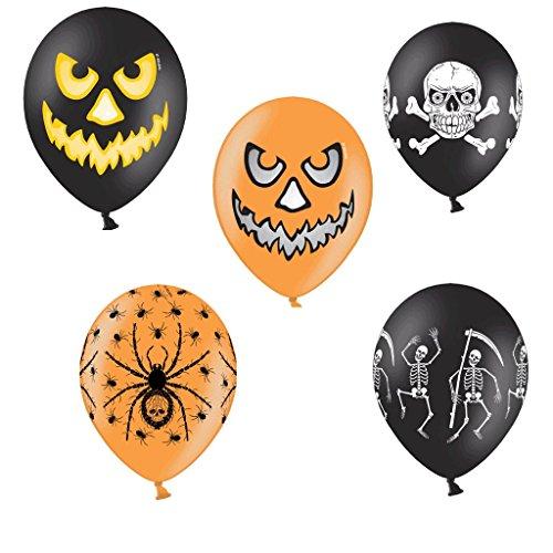 tballons Halloween Skelett Halloween Made in EU - 100% Naturlatex somit 100% giftfrei und 100% biologisch abbaubar - Liebe Hochzeit Valentinstag - für Helium geeignet - twist4® ()
