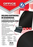 Office Products 20232515–05carátulas para encuadernar de cartón, A4, 250g/m², brillante, 100unidades), color negro