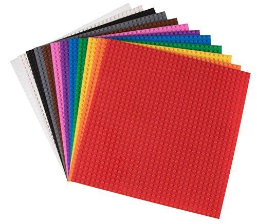Strictly Briks Premium-Bauplatten - stapelbar - kompatibel mit Allen führenden Marken - 10 x 10