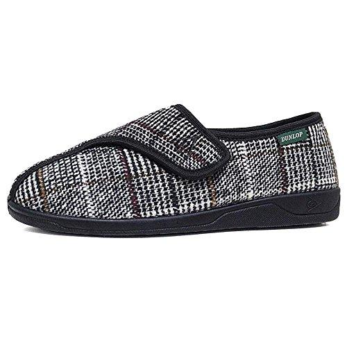 Dunlop - Zapatillas de Estar por casa de Tela para Hombre, Color, Talla 43 EU