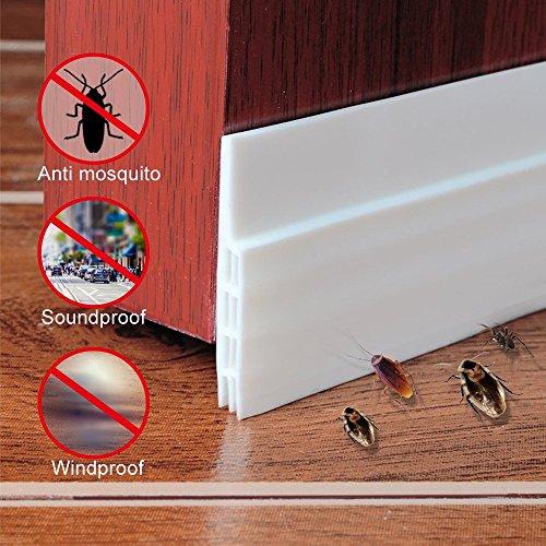 Tür-Boden-Dichtungs-Wetter-Abziehen Selbstklebende Tür-Boden-Dichtungs-Streifen, Anti-Lärm-schalldichtes Silikon unter Tür-Entwurfs-Stopper für Türen und Windows, 2