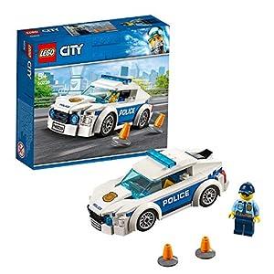 LEGO CityPolice AutodiPattugliadellaPolizia con Minifigura del Poliziotto, Set Veicoli da Inseguimento per Bambini, 60239  LEGO