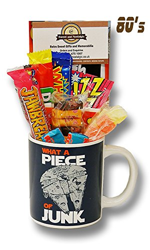 Star Wars Millennium Falcon Mug with a hyperspace portion of 1980's Retro Sweets