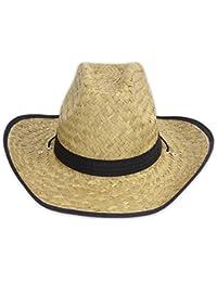 """Strohhut Sonnenhut Cowboyhut im Cowboy-Stil für die heißen Tage Modell """"JACK"""" black + blu"""