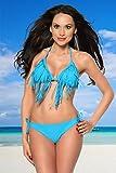 Mega sexy und Top angesagter Fransen Bikini 3 Farben 12878, Größe Atixo:M