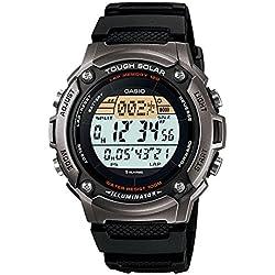 Casio W-S200H-1A - Reloj digital solar para hombre, correa de resina, color negro