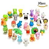 Anodass 30er verschiedene Tiere Radiergummis set von Liebenswürdig, japanischen Stil, Radierer Puzzle Spielzeug, Kreatives Spielzeug Party für kleine Geschenke