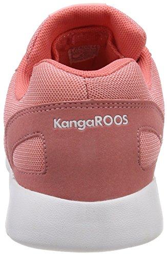KangaROOS Damen Nihu Sneaker Rot (Mauve Glow/White)