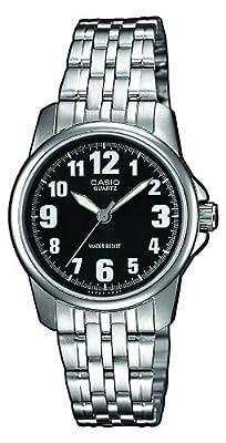 Casio LTP-1260PD-1BEF - Reloj de cuarzo para mujer, con correa de acero inoxidable, color plateado