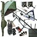 OAKWOOD Deluxe Complete Full Carp Fishing Set up With 2 x Rods Reels Alarms Tackle & Bait