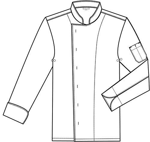 Greiff Herren-Kochjacke CUISINE BASIC, Farbe: Schwarz, Größe: XXL - 3