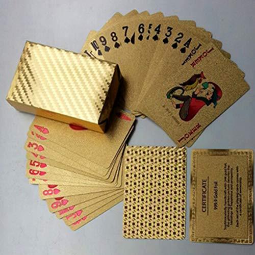 Footprintes Wasserdichtes Design Goldene Spielkarten Dauerhafter Einsatz Goldfolie Poker Spielkarten Spieltisch Spiele