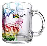Pyramidmart Personalized Clear Glass Mug - 11 oz - Customize with Your Photos & Text