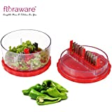 Floraware Plastic Vegetable Cutter, Red (Red_Crusher)