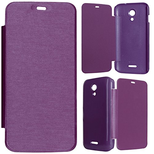 DMG Durable Protective PU Leather Flip Book Cover Case for Micromax Canvas A114 2.2 - Purple  available at amazon for Rs.199