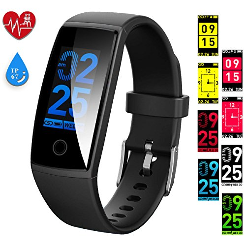 HYCLES Fitness Trackers Smart Bracelet, Color Display Activity Tracker Watches with Heart Rate/Blood Pressure, Sleep Monitor Calories Pedometer,Call/SMS Reminder USB charge for iPhone and Android