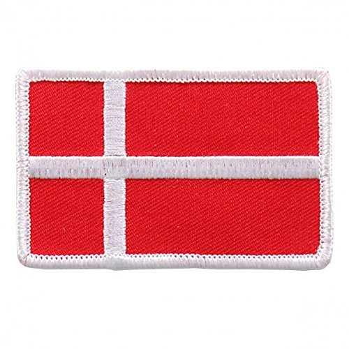 Embroidered DANISH Flag PATCH, Iron-On / Sew-On - 3