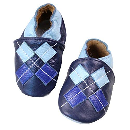 GWELL Weiche Leder Babyschuhe Lauflernschuhe Krabbelschuhe Lederpuschen für Mädchen 18-24 Monate Art-E E