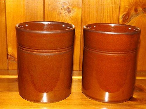 Greyshott Stoneware Grayshott Pottery Utensil Holder X 2