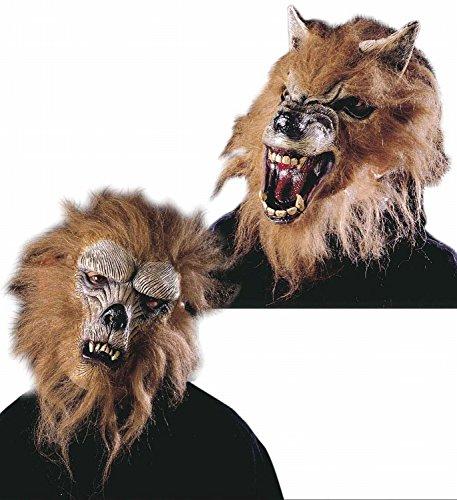 Widmann 4578W - Maske Werwolf mit Haar, 2-fach (Maske Halloween Werwolf)