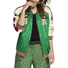 Scotch & Soda Maison Reversible Relaxed Fit Bomber Jacket with Embroideries, Chaqueta para Mujer