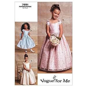 Vogue Patterns V7681 Taille39606Robe de soirée en dentelle Longueur Mi-mollet