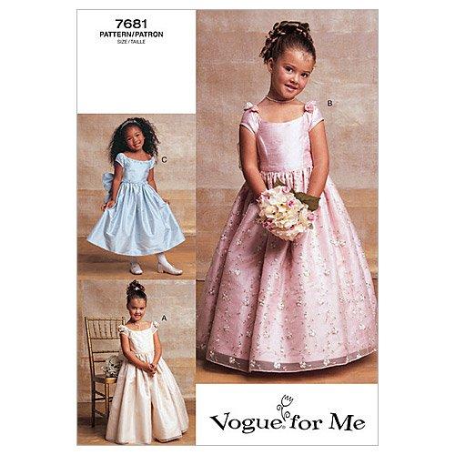 Vogue V7681 VGE (6 7 8) Schnittmuster zum Nähen, Elegant, Extravagant, Modisch (Für Muster Kleider Kommunion)