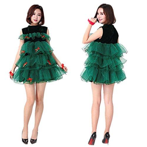 Weihnachtsbaum Kostüm Schmuck - Marcus R Caveggf Frauen Miss Santa Kostüm Weihnachtsart Kleidung Nettes Damen Weihnachtskleid Weihnachtsbaum Kleidung Weihnachtsmann Green Elf Kostüm