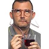 Smiffys, Unisex Strohhalm Brille, One Size, Durchsichtig, 23735