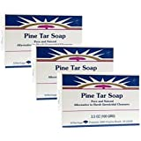 Heritage Store Bath Soap, Pine Tar, 3.5 Ounce (Pack of 3)