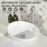 UEnjoy Oval Waschbecken-9700 Design Waschschale Aufsatzwaschbecken Weiß
