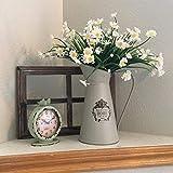 APSOONSELL Metall mit Krug/Kanne Chic Vase mit Dekoration für Zuhause grau