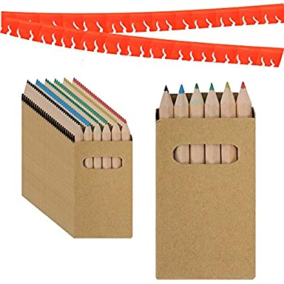 Piñatas de Cumpleaños Infantiles Partituki. Sets de 6 Lapices para Colorear y una Guirnalda Roja de 20 m. Ideal para Detalles Cumpleaños Infantiles y Regalos Cumpleaños Niños Colegio por PARTITUKI