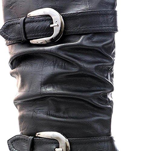 LILLEY de coffre pour femme Noir froncée avec boucle double Noir - noir