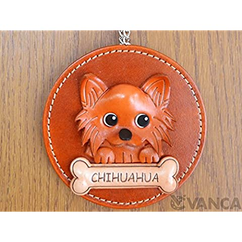 Chihuahua Cane/vera pelle animale decorazione da parete * VANCA * fatto a mano in Giappone