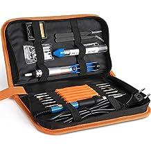 INTEY 17PCS Lötkolben Set 60 W 220V Einstellbare Temperatur von 200–450°C Ideal für Lötarbeiten & Reparaturen, Hobby, Schule & Haushalt