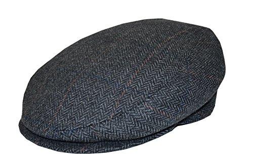 Schirmmütze Herringbone fine in anthrazit oder braun by Balke (57, anthrazit)