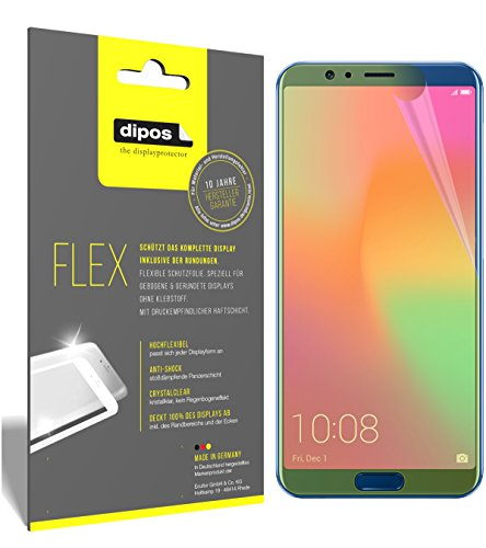 dipos I 3X Schutzfolie 100prozent passend für Huawei Honor View 10 Folie (Vollständige Bildschirmabdeckung) Bildschirmschutzfolie