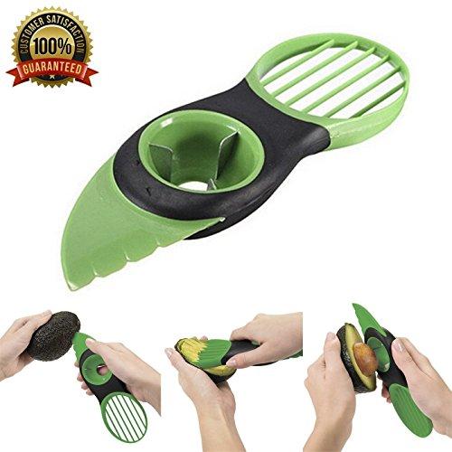 multifonction 3 en 1 Avocat trancheuse Éplucheur Cutter & Core Remover Skinner pour fruits (Vert), Kadin les maisons