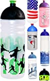 ISYbe Trinkflasche 700ml Fußballer, transparent, schadstofffrei, spülmaschinengeeignet, auslaufsicher