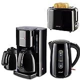 Frühstücksserie im trendigen schwarz mit Kaffeeautomat mit 2 Thermokannen!!3 Geräte 1Preis