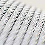 [DQ-PP] 20 m Drahtseil 3mm TOP ARTIKEL 6x7 Stahlseil verzinkt Drahtseil Seil Stahl Draht Forstseil Windenseil