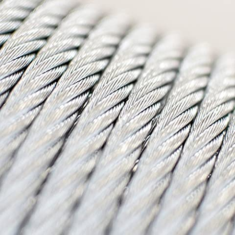 5m steel wire rope 16mm grinding machine garden forestry EN12385-4 Strand: 6x37+FC - many sizes